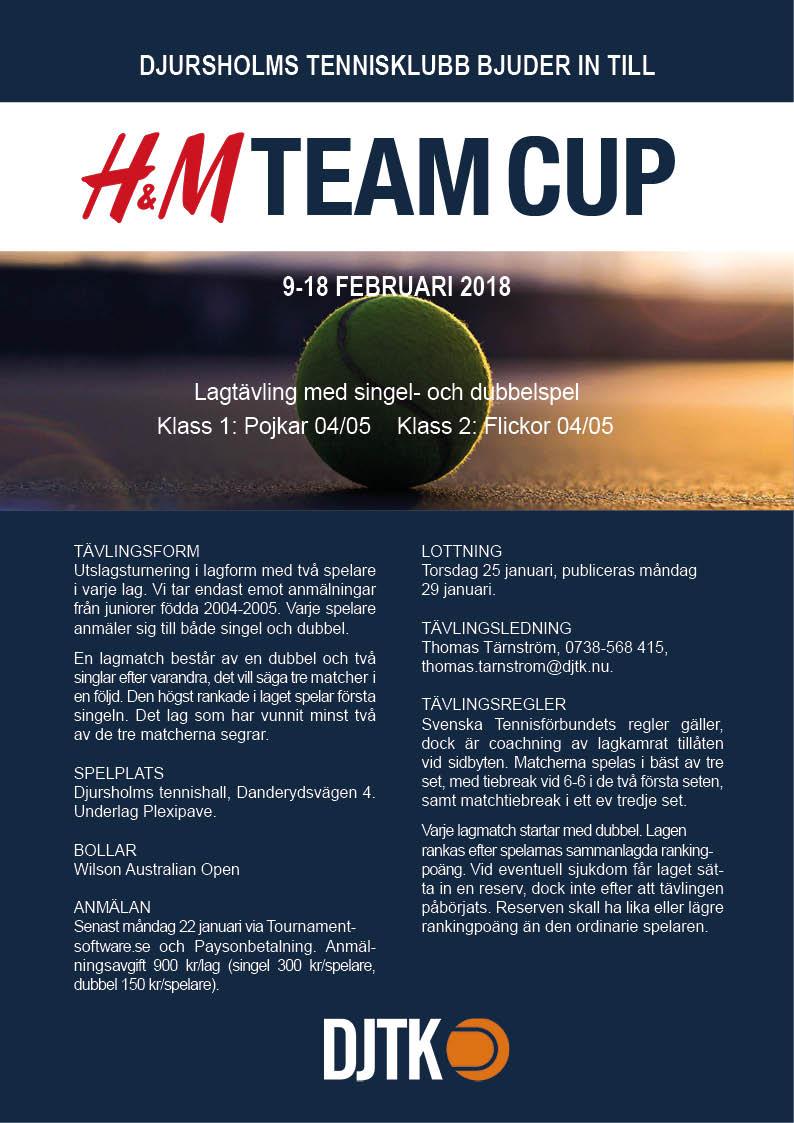Affisch H&M Team Cup